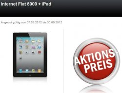 Apple iPad 3 3G+4G 16GB + Telekom Internet Flat 5000 + 120 Euro Auszahlung = rechnerisch für 29,95 EUR mtl. @24mobile.de