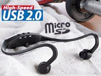 Auvisio CSX-710i kabelloser Sport-MP3-Player mit microSD-Slot bei PEARL für 2,90 €