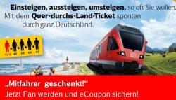Deutsche Bahn verschenkt E-coupons für einen gratis Mitfahrer