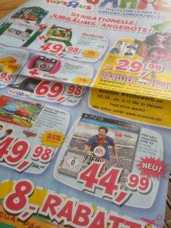 [LOKAL] FIFA 13 für die Playstation 3 für nur 39,99€ mit Gutschein ab Donnerstag in den Toys´R´Us Märkten in Deutschland