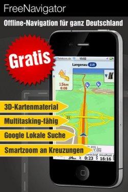 "Gratis-Navi App ""FREEnavigator 3D"" für iPhone und iPad im iTunes-Store"