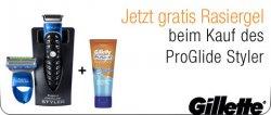 Gratis Rasiergel beim Kauf eines Gillette Fusion ProGlide Styler @ amazon