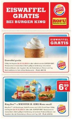 Gutschein für kostenloses Sunday Eis bei Burger King