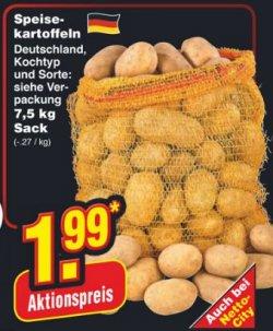 [LOKAL] 7,5 Kg Speise Kartoffel für 1,99€ bei @netto ab Montag