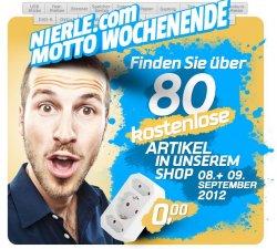 Motto Wochenende im Nierle Media-Shop: Über 80 kostenlose Artikel im Shop – nur am 8. und 9. September
