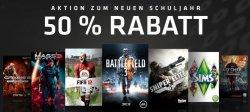 @Origin: 50% Rabatt zum neuen Schuljahr auf etliche PC-Spiele