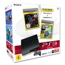 PlayStation 3 + 2 Games bei Real Online+Offline