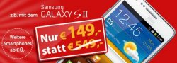Samsung Galaxy S2 (keine G Version) oder Galaxy Nexus für 149€ mit effektiv kostenlosem Duo-Vertrag