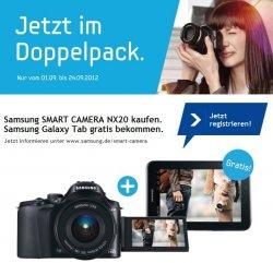 Samsung Galaxy Tab 2 7.0 GRATIS beim Kauf einer Samsung SMART CAMERA NX20