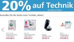 Technik-Aktion bei Neckermann: 20% Extra-Rabatt auf Technik mit Gutschein-Code