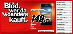 [LOKAL] Viele neue Angebote @Media Markt z.B. LG E610 für 149€ ( Idealopreis 166€)