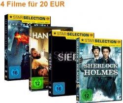 Wieder da: 4 DVDs für 20€ bei Amazon – freie Auswahl aus 546 Titeln