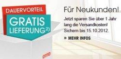 1 Jahr lang gratis Versand bei Otto.de
