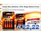 100er Kodak Mega Battery Pack für 22,22€ @deals.preisvergleich