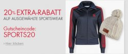 """20% auf ausgewählte Sportswear mit Gutscheincode """"SPORTS20"""" @Amazon.de"""