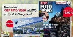 3 Ausgaben Chip Foto-Video mit DVD für 3,90€ mit 10€ Aral Tank Gutschein