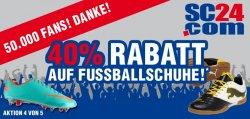 40% Rabatt auf alle Fußballschuhe mit Gutscheincode bei SC24.com