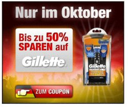 5,00 Euro Rabatt auf Gillette Fusion ProGlide