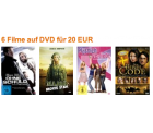 6 Filme auf DVD für 20 EUR @amazon
