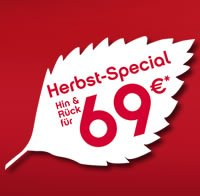 Ab 69 € quer durch Europa, Herbst-Special @ Airberlin