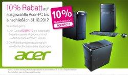 Acer Special Rabatt von 10% auf ausgewählte PC´s @t-online.shop