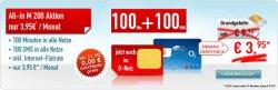 All-in M 200 Mobilfunkvertrag für 3,95€ monatlich statt 9,95€.