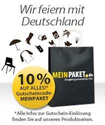 Bis Sonntag 10% Rabatt bei meinpaket.de bei nur 1€ Mindestbestellwert
