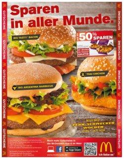 Die neuen McDonalds Gutscheine sind da und es kann wieder bis zu 50% gespart werden!