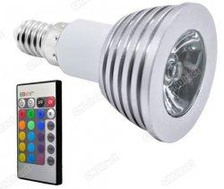 @Ebay.de Farbwechsel LED-Leuchtmittel (E14) inkl. Fernbedienung für 2,61 Euro