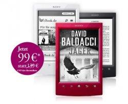 @ebook.de: eBook-Reader Sony PRS-T2 mit 6 Büchern für 99 € statt 139€