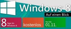 eBook zu Windows 8 kostenlos downloaden, Angebot gilt bis 01.11.12