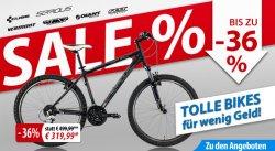 Fährräder bis 36% reduziert bei fahrrad.de