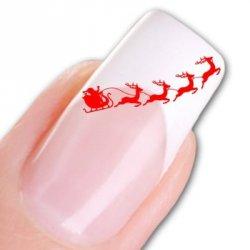 Für die Damen zum Advent: Nail Tattoo Sticker Weihnachten mit Rentier&Schlitten für nur 2,49€ incl. Versand