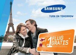Gratis Hin- und Rückflug als Zugabe bei Kauf eines Samsung Produktes