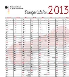 Gratis Wandkalender DIN A1 für 2013