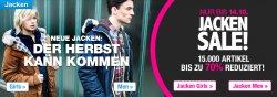 Jacken Sale mit bis zu 70% Rabatt auf planet-sports.de + 10€ Neukundengutschein + Outletverkauf