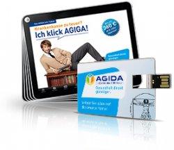 kostenloser 2GB USB-Stick im Scheckkartenformat @AGIDA Versicherung