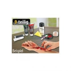 Latex-Schminkset für Grusel-Make-up, 9-teilig @Amazon 6,85€ incl. Versand