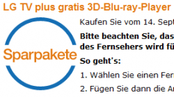 LG TV plus gratis 3D-Blu-ray-Player @Amazon im Paket bis 31. Oktober