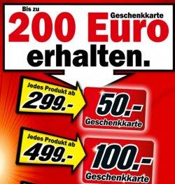 MediaMarkt: Gerät (z.B. auch von Apple) ab 299€ kaufen und Gutscheinkarte bis 200 € erhalten