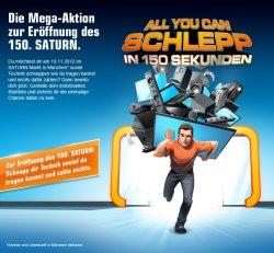 "[Lokal] Mega-Aktion zur Eröffnung des 150. Saturn in München: ""All you can Schlepp in 150 Sekunden"""