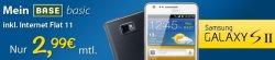 Mein BASE basic inkl. Internet Flat – 2,99€ monatlich und Samsung Galaxy 3 für 20€ monatlich mit Zuzahlung 69€