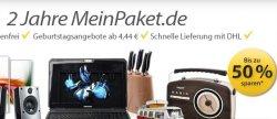 MeinPaket.de wird heute 2 Jahre alt, dazu die Aktion 36 Geburtstagsangebote mit bis zu 50% Rabatt