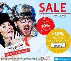 Mid Season Sale mit 30% + 10% @Mirapodo