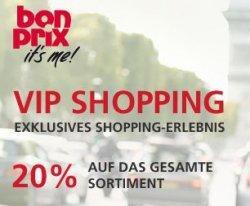 VIP-Shopping bei bonprix, 20 % auf alles + Gratisdrink genießen