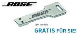 Wieder verfügbar: 1 GB USB-Sick von BOSE in Schlüsselform gratis