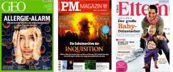 Zeitschriften mit extremen Rabatten/ Prämien in der Herbstaktion von Gruner+Jahr