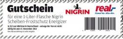 """[Lokal] 1 Liter Nigrin Scheibenfrostschutz """"GRATIS"""" bei real"""