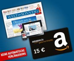 2 Monate Welt am Sonntag inklusive Apps für effektiv 4,80€ @dailydeal