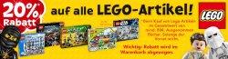 20% Rabatt auf alle Lego Artikel bei Toysrus ab 80€